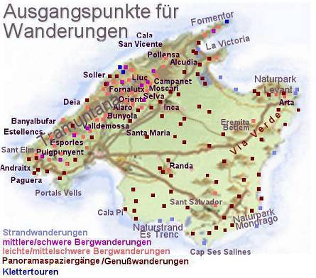 Mallorca Karte Paguera.Wandern Auf Mallorca Wandern Im Tramuntanagebirge